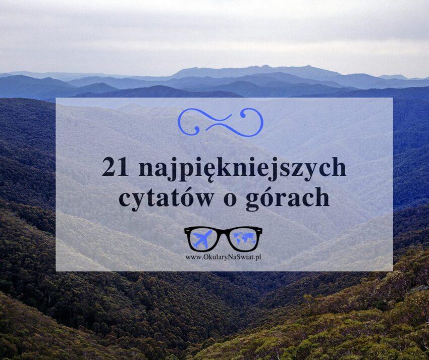 cytaty o górach